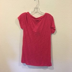 bobeau Tops - NWT pink short sleeve tie blouse
